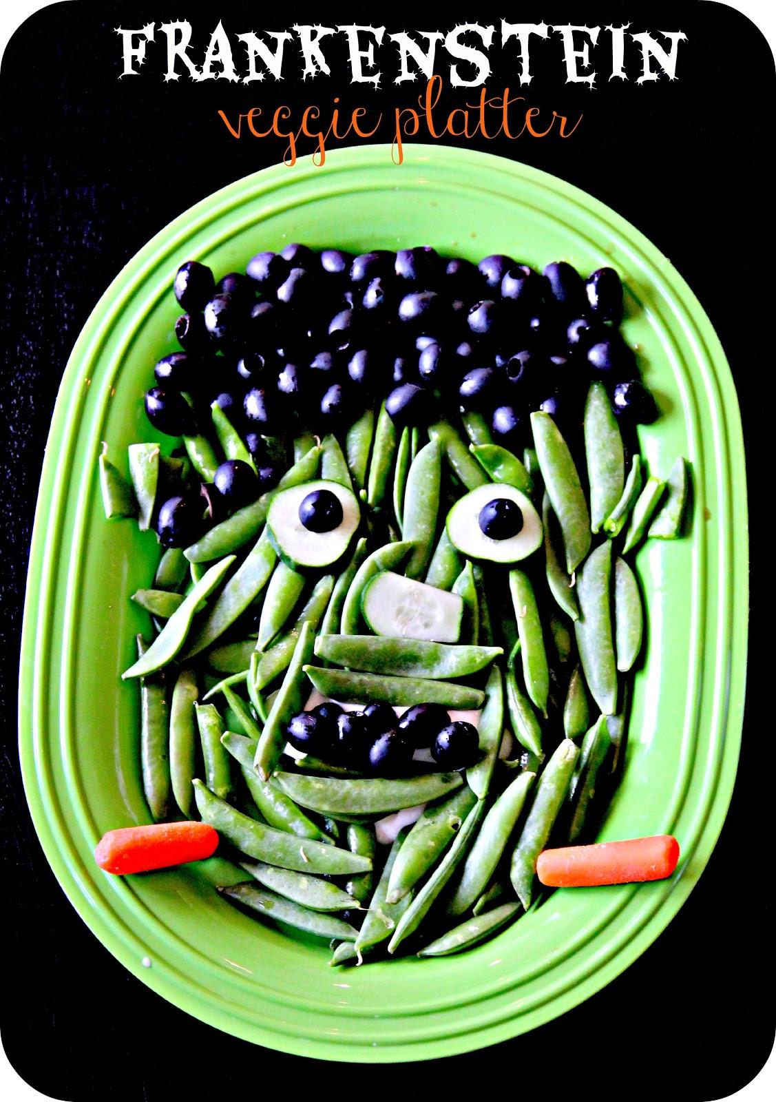 Frankenstein Veggie Platter